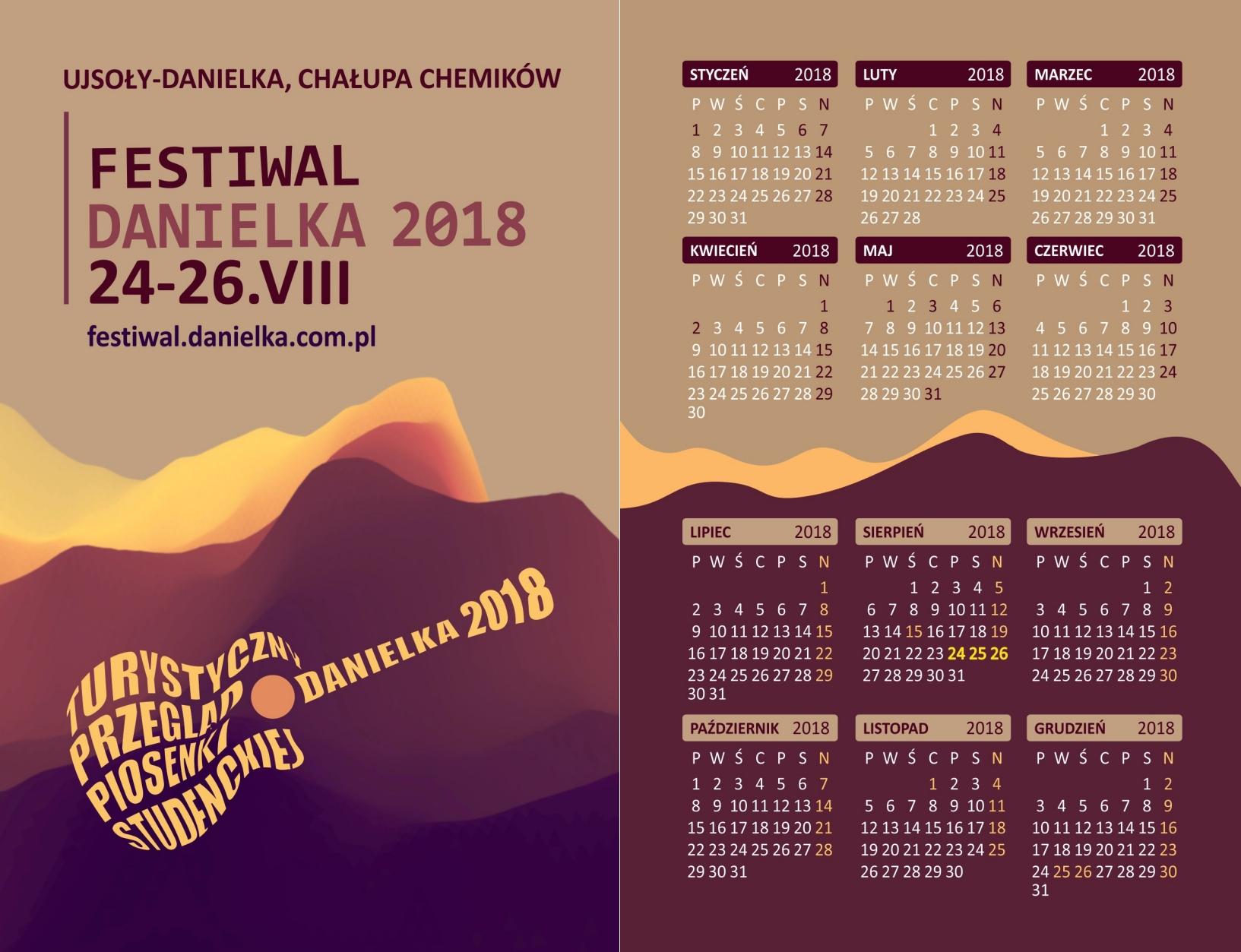 Kalendarzyki Danielka 2018