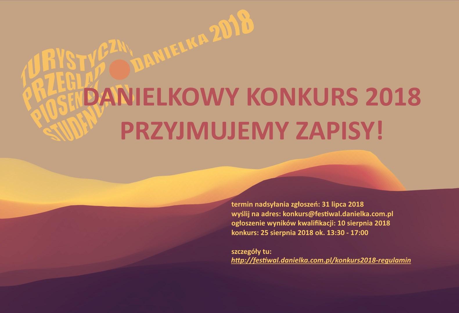 Przyjmujemy zgłoszenia do Danielkowego Konkursu 2018