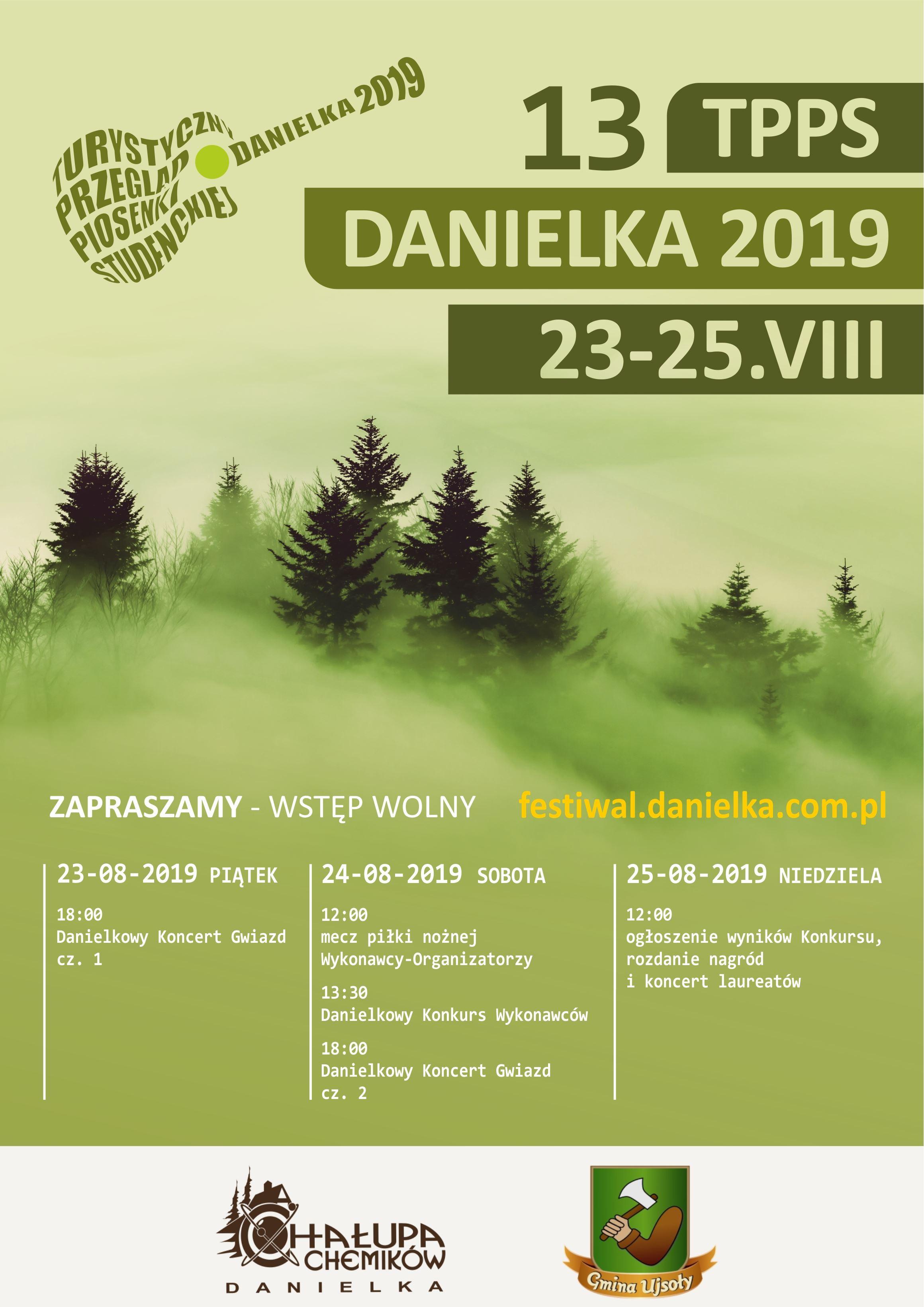 Danielka 2019 – program ramowy