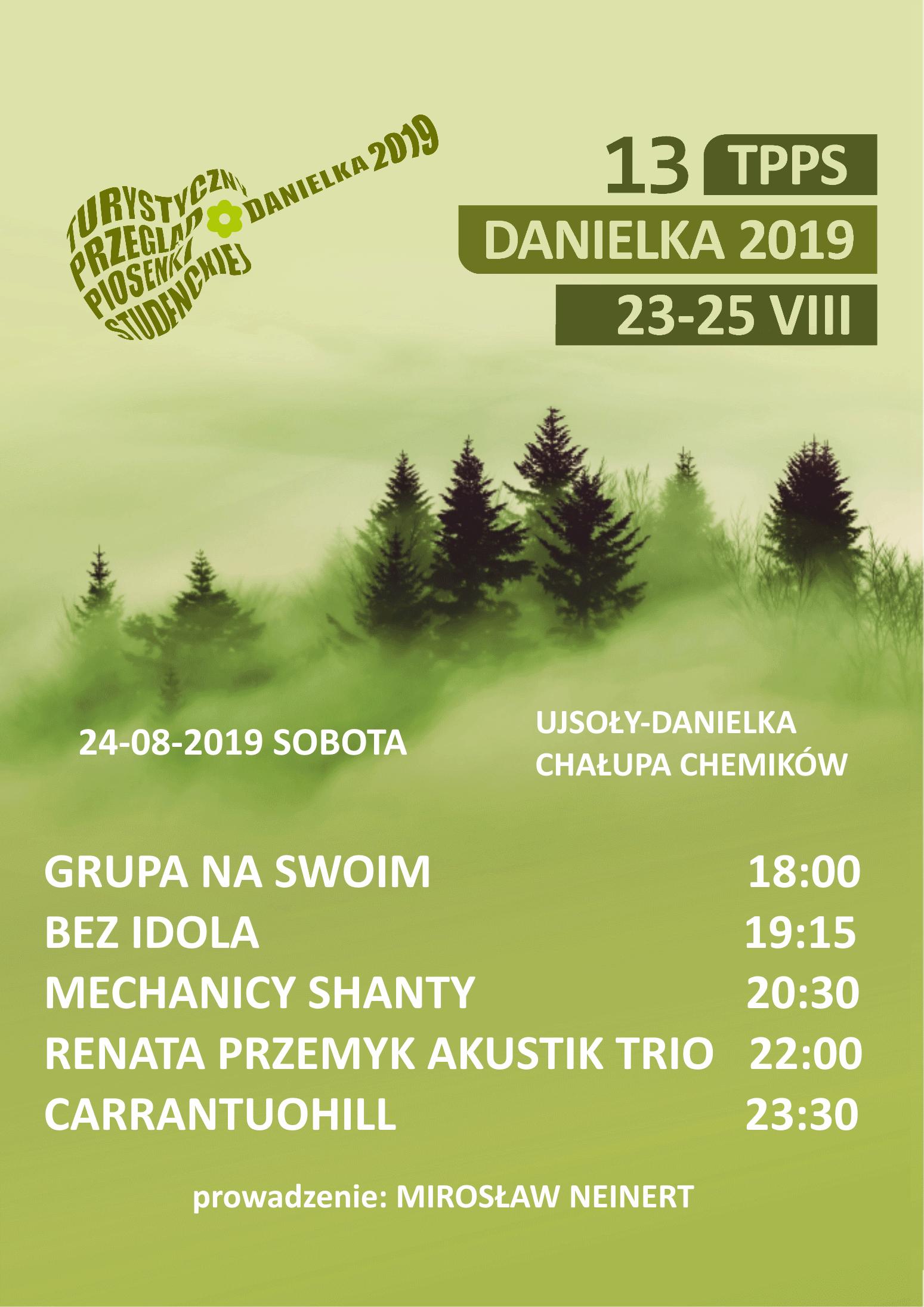 Rozkład godzinowy sobotniego Danielkowego Koncertu Gwiazd